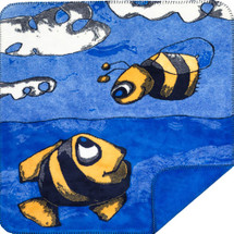 "Denali ""Fish and Bee"" Microsoft Mini Throw 30"" x 36"""
