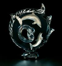"""Encompassed"" Dolphin Sculpture by Dan Medina"