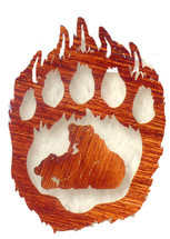 """Bear Paw - Too Much Fun"" Metal Wall Art"