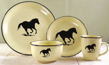 Loping Horse Silhouette Dinnerware Lodge Collection