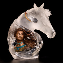 "Starlite Originals ""Running Wind"" Indian & Horse Sculpture"