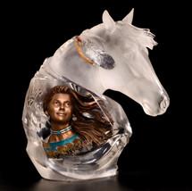 "Starlite Originals ""Running Wind"" Indian & Horse Sculpture"