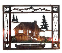 "Lazart ""At the Cabin"" Metal Wall Art"