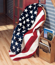 "Denali ""Stars & Stripes"" Microplush Throw 50"" x 60"""