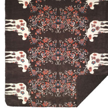 Moose Blossom-Brown Denali Microplush Throw