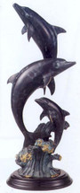Dolphin Family Sculpture