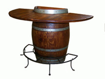 Half Barrel Bistro Table