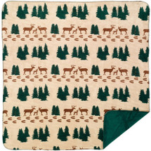 "Denali Deer Microplush Throw 50"" x 60"""