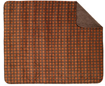 "Denali ""Gold-Taupe Buffalo Check"" Throw - 50"" x 60"""