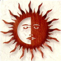 Bent Sun Moon Metal Wall Art