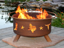 "Patina ""Lone Star Texas"" Outdoor Fire Pit"