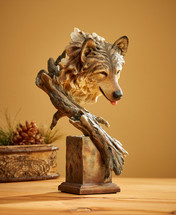The Survivor - Wolf Bust by Stephen Herrero