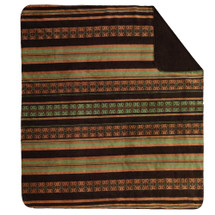 Dark Chocolate Stripe Denali Microplush Throw