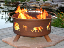 "Patina ""Safari"" Outdoor Fire Pit"