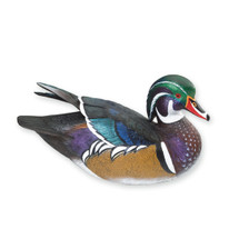 Miniature Wood Duck Drake Sculpture