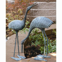 Stately Garden Cranes Pair by SPI