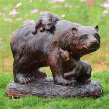 Playtime Garden Sculpture - Bear and Cubs by SPI