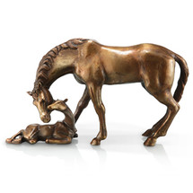 Mare and Foal Sculpture by SPI