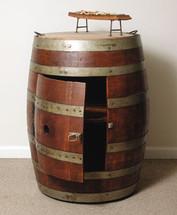 Wine Barrel Cabinet On Casters