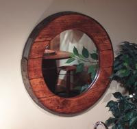 Wine Barrel Ring Mirror