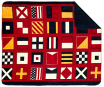"Denali Nautical Flags Microplush Throw 50"" x 60"""