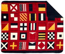 """Nautical Flags Microplush Throw 50"""" x 60"""""""