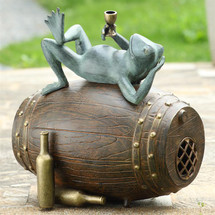 Connoisseur Frog Garden Sculpture w/Bluetooth Speaker