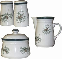 Cabin Series Creamer, Sugar, Salt & Pepper Set/4