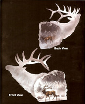 """Starlite Originals """"Love's Journey"""" Elk Sculpture"""