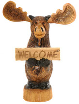 """Norman"" Wood Carved Moose"