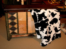 Black Cow Microplush Throw