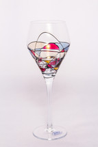 Milano Noir White Wine Glasses Set/4