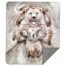 "Spirit Bear - Microplush Throw 60"" x 70"" by Denali"