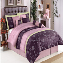 Grand Park Purple Multi - Piece Bedding Set
