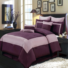 Wendy Purple Multi - Piece Bedding Set