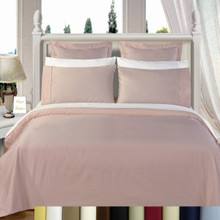 600TC 100% Combed Cotton Solid Duvet Cover Set
