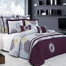Fifi 100% cotton Embroidered Multi - Piece Duvet cover set
