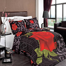 Hayden Combed Cotton 3pc Duvet Cover Set