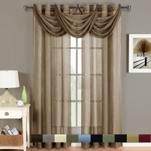 Abri Grommet Crushed Sheer Curtain Panel