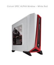 Corsair SPEC ALPHA Window - White Red