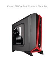 Corsair SPEC ALPHA Window - Black Red 1