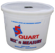 Encore Plastic 5 Quart Container with Lid Mix N' Measure
