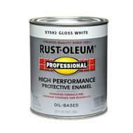 RUST-OLEUM Professional Flat White High Performance Enamel Quart