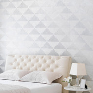 Royal Design Studio Step Up Triangles Wall Stencil