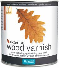 Polyvine Exterior Wood Varnish Clear Satin