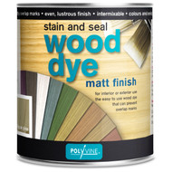 Polyvine Wood Dye Stain and Seal Matt Finish Pint