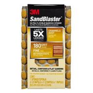 3M SandBlaster Ultra Flexible Sanding Sponge 180-Grit Fine