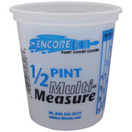 Encore Plastic 1/2 Pint Container Mix N' Measure