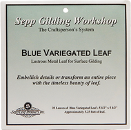 Nazionale Blue Variegated Metal Leaf 5.5-Inch by 5.5-Inch