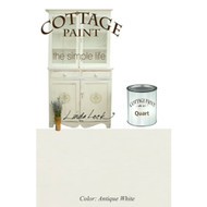 Antique White | Cottage Paint: A Flat Furniture Paint That Looks Like Clay